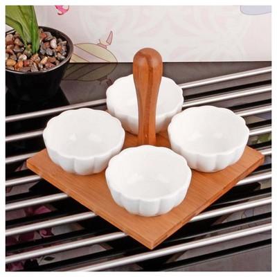 İhouse 5938 Bambulu Porselen Cerezlik Beyaz Çerezlik