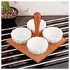 İhouse 5938 Bambulu Porselen Cerezlik Beyaz Tabak