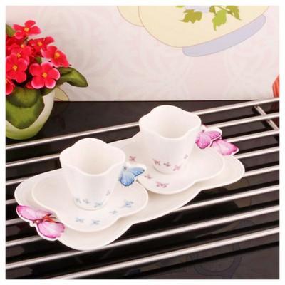 İhouse 8005 Porselen Kahve Ikram Seti Beyaz Fincan Takımı