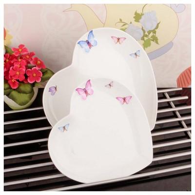 İhouse 8009 Porselen 2 Li Servis Tabağı Beyaz Tabak