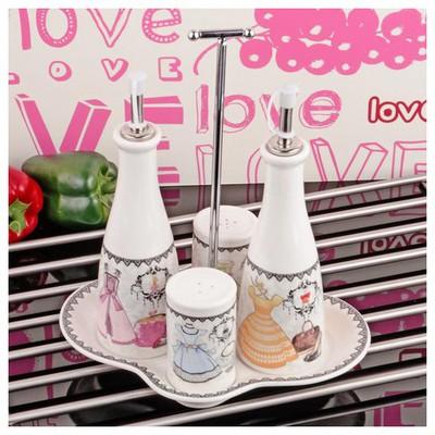 İhouse 8305 Porselen Yağlık Sirkelik Beyaz Baharatlık