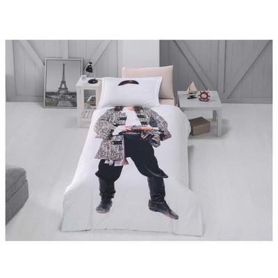 Clasy Korsan Digital 3d Nevresim Tek Kişilik Beyaz Ev Tekstili