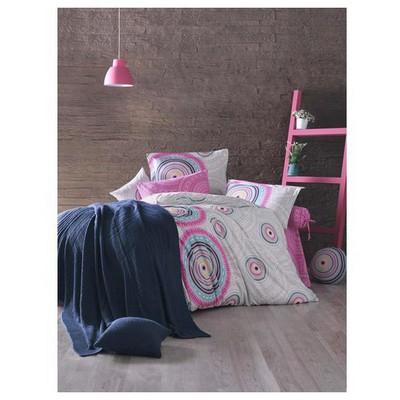 Clasy Saharav2 Nevresim Takımlı Örgü Battaniye Çift Kişilik Pembe Ev Tekstili