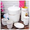 İhouse 874 Porselen 6 Parça Banyo Seti Beyaz Banyo Seti
