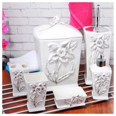 İhouse 899 Porselen 6 Parça Banyo Seti Beyaz Banyo Gereçleri