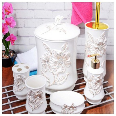 İhouse 902 Porselen  Beyaz Banyo Seti