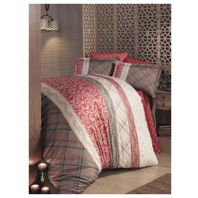 Clasy Asporav2 Saten Nevresim Takımı Çift Kişilik Kırmızı Ev Tekstili