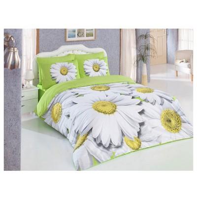 Örtüm Bahar Çift Kişilik Nevresim Takımı Yeşil Ev Tekstili