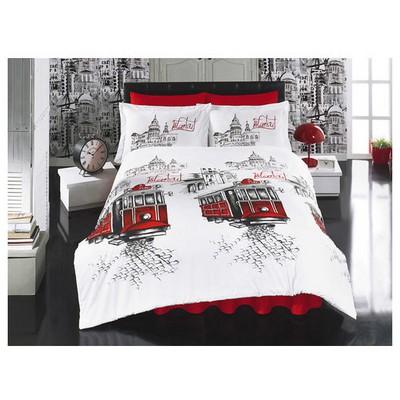Clasy Beyoglu Ranforce Uyku Seti Cift Kisilik Kırmızı Uyku Setleri