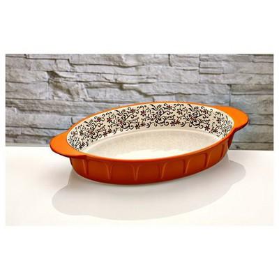 İhouse Bnf04-porselen -turuncu Fırın Kabı