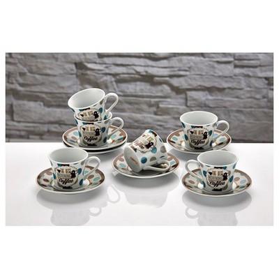 İhouse Cky01 Porselen 6 Lı Fincan Seti Kahve Fincan Takımı