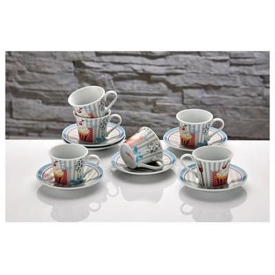 İhouse Cky01-a Porselen 6 Lı Fincan Seti Mavi Çay Seti