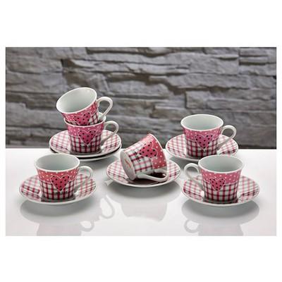 İhouse Cky01-e Porselen 6 Lı Fincan Seti Pembe Çay Seti