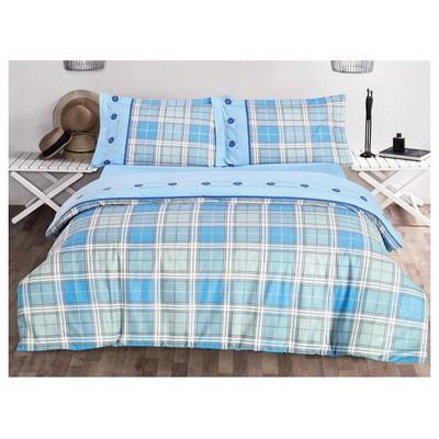 Clasy Derinv3 Nevresim Takımı Mavi Çift Kişilik Ev Tekstili