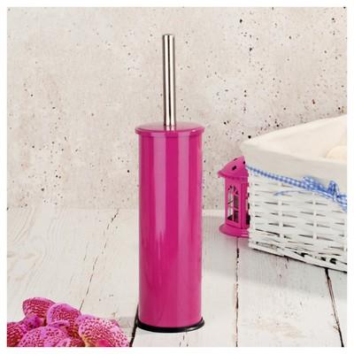 İhouse Hal0001 Metal Tuvalet Fırçalığı Fuşya Banyo Aksesuarı