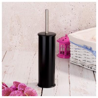 İhouse Hal0003 Metal Tuvalet Fırçalığı Siyah Banyo Aksesuarı