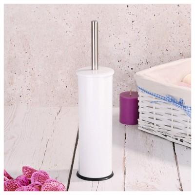 İhouse Hal0004 Metal Tuvalet Fırçalığı Beyaz Banyo Aksesuarı