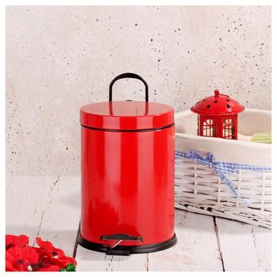 İhouse Hal0009 Metal Çöp Kovası Kırmızı Çöp Kovaları