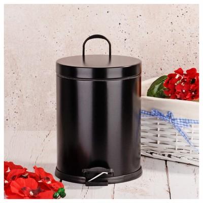 İhouse Hal0014 Metal Çöp Kovası Siyah Çöp Kovaları