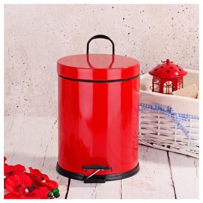 İhouse Hal0016 Metal Çöp Kovası Kırmızı Çöp Kovaları