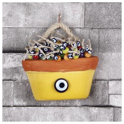İhouse Ih108 Nazar Boncuklu Dekoratif Duvar Süsü Sarı Dekoratif Ürünler