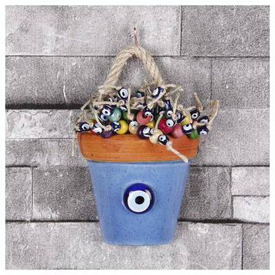 İhouse Ih110 Nazar Boncuklu Dekoratif Duvar Süsü Mavi Dekoratif Ürünler