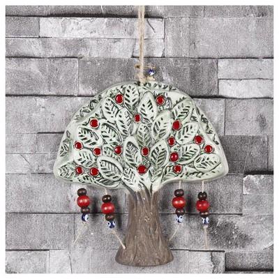 İhouse Ih128 Tuğba Ağacı Nazar Boncuklu Duvar Süsü Beyaz Dekoratif Süs