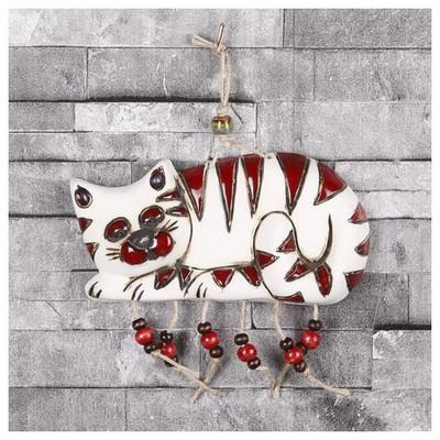 İhouse Ih131 Nazar Boncuklu Dekoratif Duvar Süsü Kırmızı Dekoratif Süs