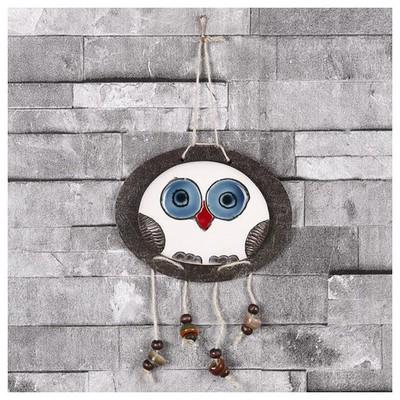 İhouse Ih138 Oval Baykuş Duvar Süsü Beyaz Dekoratif Süs