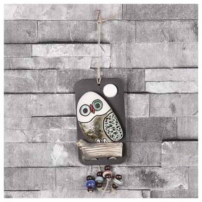 İhouse Ih139 Tekli Baykuş Duvar Süsü Sarı Dekoratif Süs