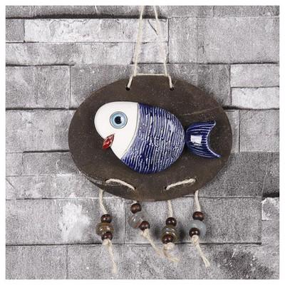 İhouse Ih144 Oval Balık Duvar Süsü Mavi Dekoratif Süs