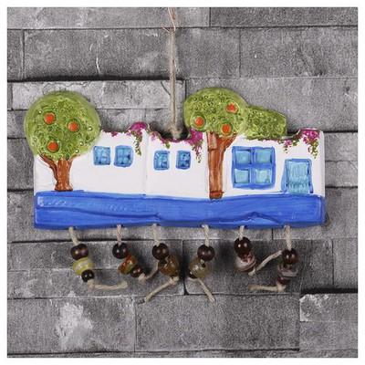 İhouse Ih159 Nazar Boncuklu Dekoratif Duvar Süsü Beyaz Dekoratif Ürünler