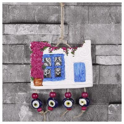 İhouse Ih160 Bodrum Manzara Duvar Süsü Beyaz Dekoratif Süs