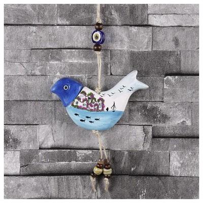 İhouse Ih162 Manzaralı Kuş Duvar Süsü Beyaz Dekoratif Süs