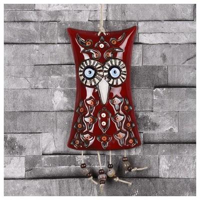 İhouse Ih169 Dekorlu Baykuş Duvar Süsü Kırmızı Dekoratif Süs