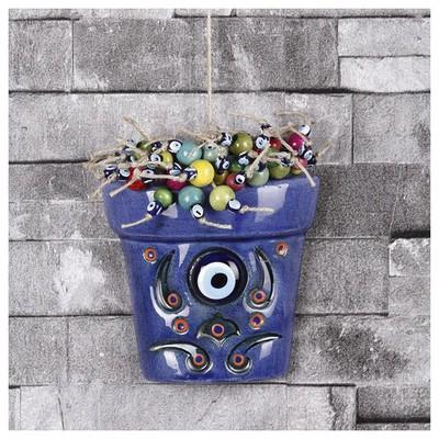 İhouse Ih174 Nazar Boncuklu Dekoratif Duvar Süsü Lacivert Dekoratif Ürünler