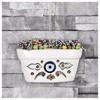 İhouse Ih182 Nazar Boncuklu Dekoratif Duvar Süsü Beyaz Ev Gereçleri