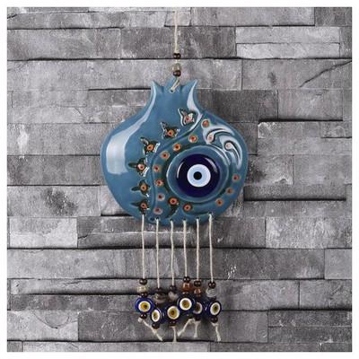 ihouse-ih188-uzeri-dekorlu-nar-sekilli-duvar-susu-turkuaz