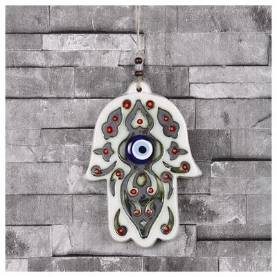 İhouse Ih192 Fatma Ana Eli Duvar Süsü Beyaz Dekoratif Süs