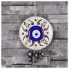 İhouse Ih193 Nazar Boncuklu Dekoratif Duvar Süsü Beyaz Ev Gereçleri