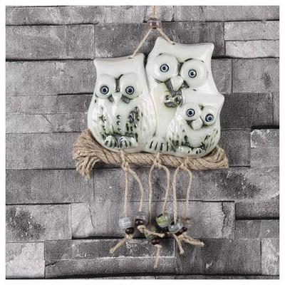 İhouse Ih205 Baykuş Ailesi Duvar Süsü Beyaz