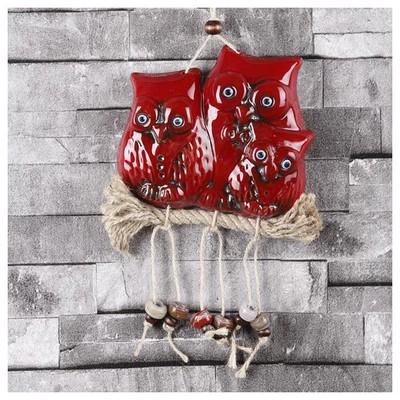 İhouse Ih206 Nazar Boncuklu Dekoratif Duvar Süsü Kırmızı Dekoratif Süs