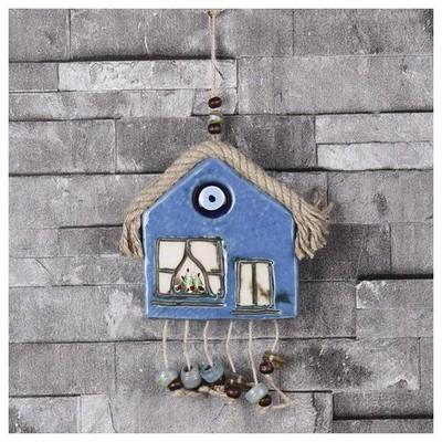İhouse Ih212 Ev Dekorlu Duvar Süsü Mavi Dekoratif Süs