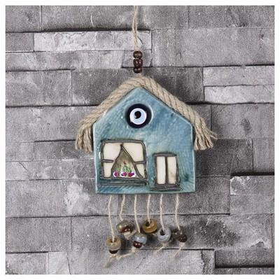 İhouse Ih213 Nazar Boncuklu Dekoratif Duvar Süsü Turkuaz Dekoratif Süs