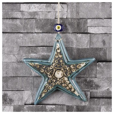 İhouse Ih223 Deniz Yıldızı Duvar Süsü Turkuaz Dekoratif Süs