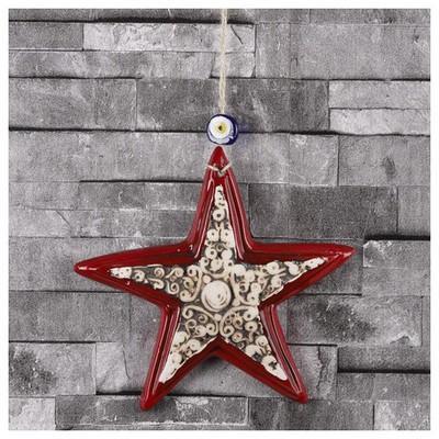 İhouse Ih225 Deniz Yıldızı Duvar Süsü Kırmızı Dekoratif Süs