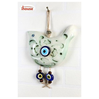 İhouse Ih234 Kuş Dekorlu Duvar Süsü Beyaz Dekoratif Süs