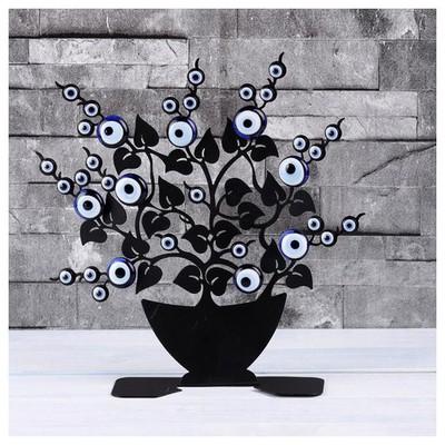 İhouse Ih268 Saksılı Ağaç Dalı Nazarlık Siyah Dekoratif Süs