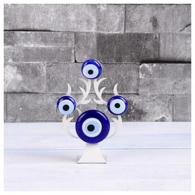 İhouse Ih277 Nazarlıklı Masa Üstü Dekoratif Obje Beyaz Dekoratif Ürünler