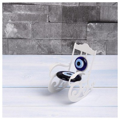 İhouse Ih284 Nazarlıklı Masa Üstü Dekoratif Obje Beyaz Dekoratif Süs